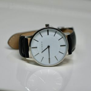 Elegant Black and White Time Piece
